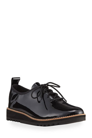 Eileen Fisher Strive Patent Oxford Loafers