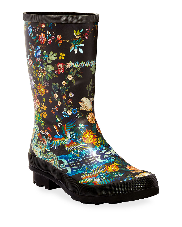 Johnny Was Dreamer Garden Rain boots