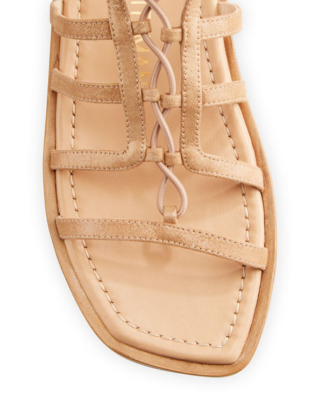 Stuart Weitzman Womens Kora Lace Up Gladiator Sandals in