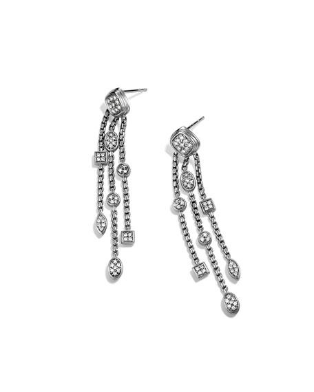 Confetti Tassel Earrings with Diamonds