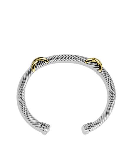 David Yurman Double X Bracelet With Gold