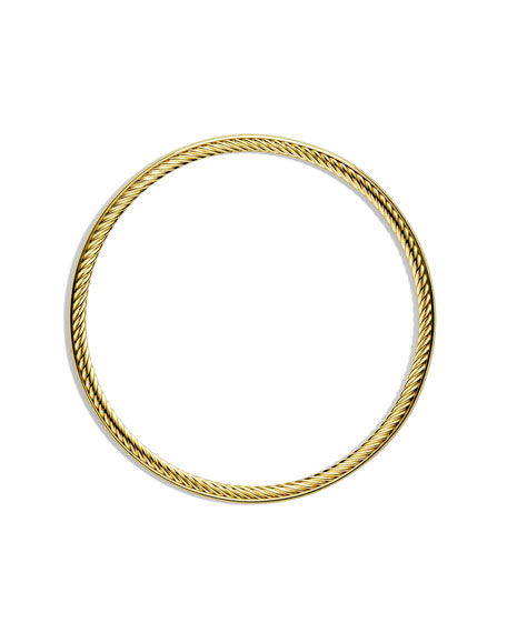 Cable Inside Bangle in Gold