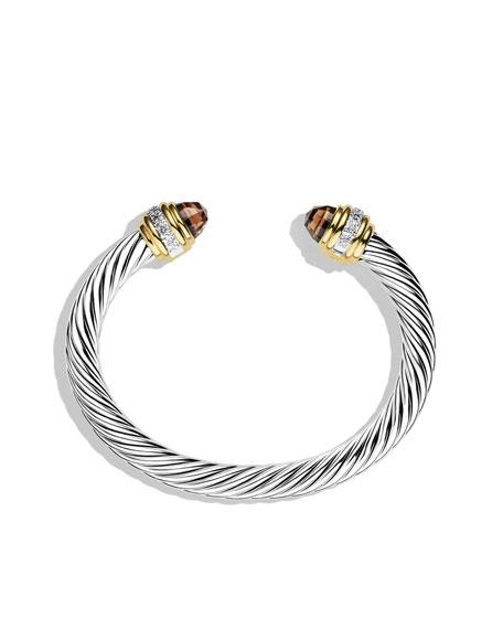 Cable Classics Bracelet with Smoky Quartz, Diamonds, and Gold