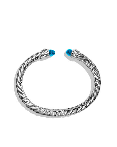 Waverly Cable Bracelet with Blue Topaz and Diamonds