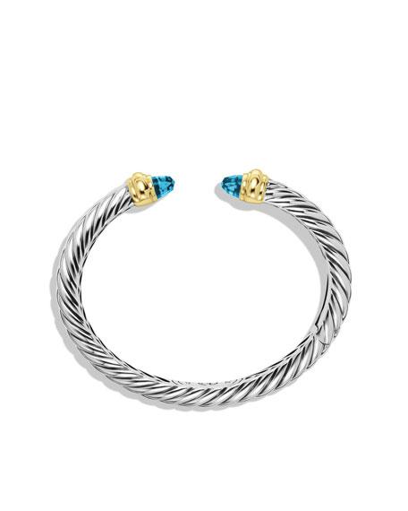Waverly Bracelet with Blue Topaz and Gold
