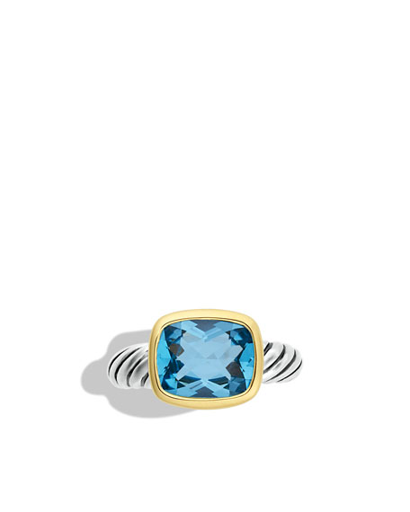 Noblesse Ring with Blue Topaz with Gold