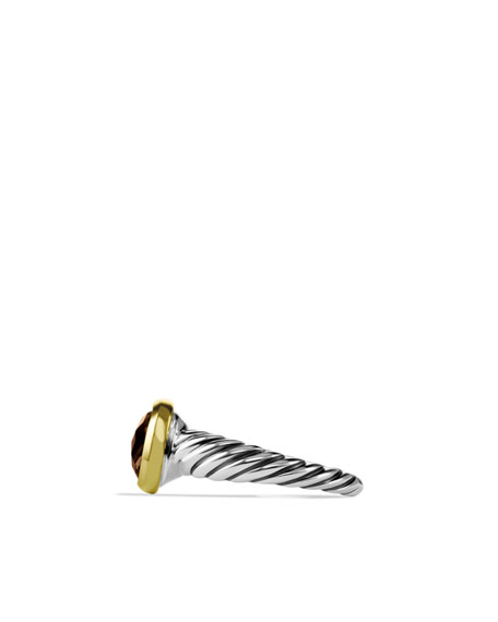 Noblesse Ring with Smoky Quartz with Gold
