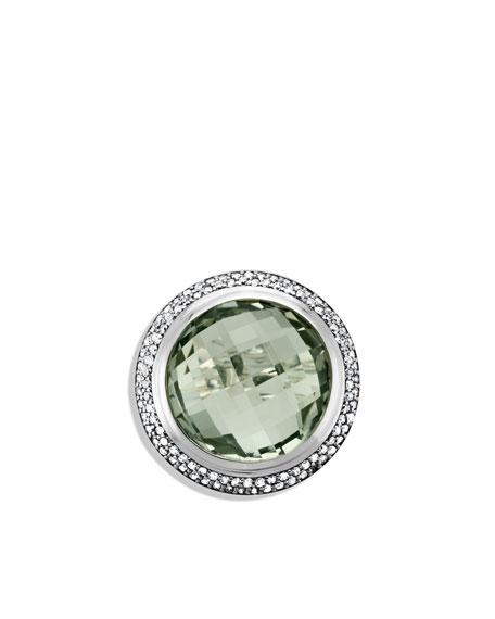 Cerise Ring with Prasiolite and Diamonds