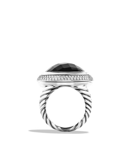Cerise Ring with Black Onyx and Diamonds