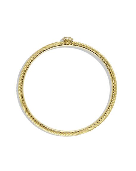 Quatrefoil Bangle with Diamonds in Gold