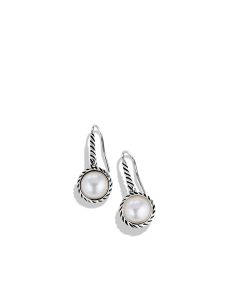 Cable Pearl Drop Earrings