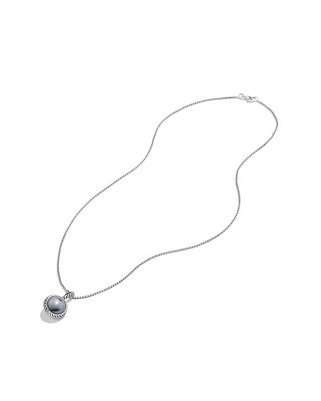Cable Pearl Pendant on Chain