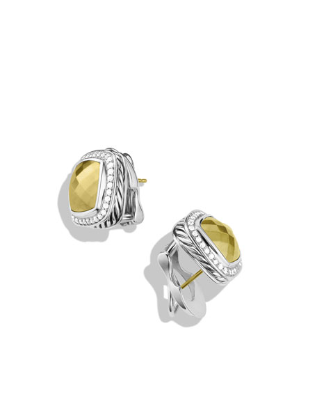 Albion Earrings with Gold Domes and Diamonds
