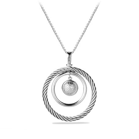 Pave Spiral Cable Pendant