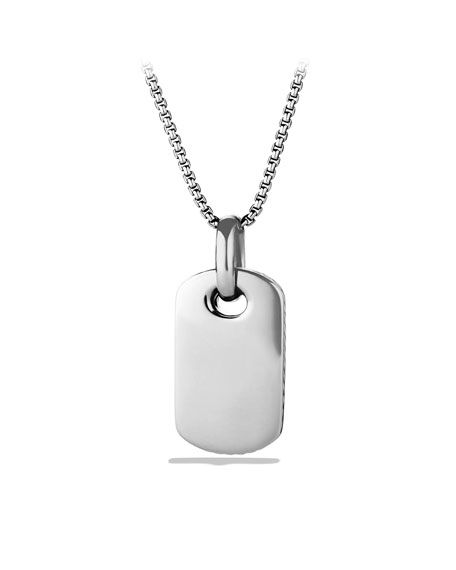 Color Classics Tag with Mother-of-Pearl and Diamonds on Chain