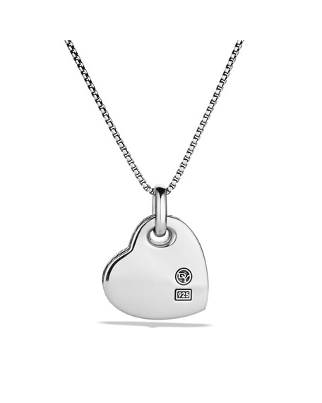 Cable Heart Pendant with Mother-of-Pearl and Diamonds on Chain