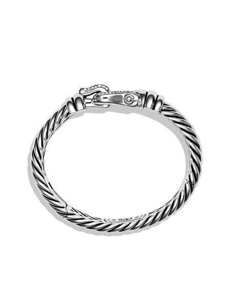 Cable Buckle Bracelet with Diamonds