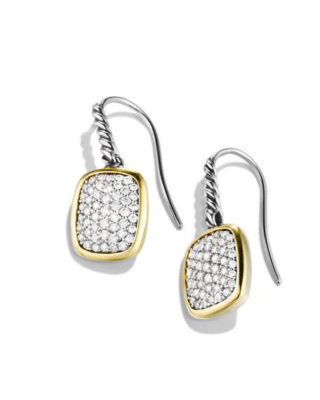 Noblesse Drop Earrings with Diamonds and Gold
