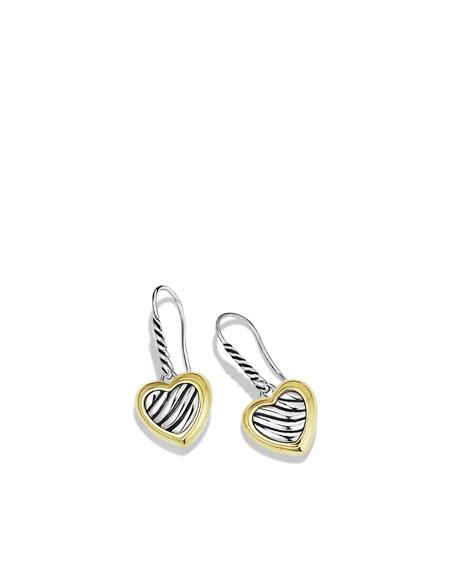 Cable Heart Drop Earrings