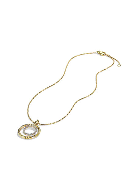 Mobile Pendant with Diamonds in Gold on Chain