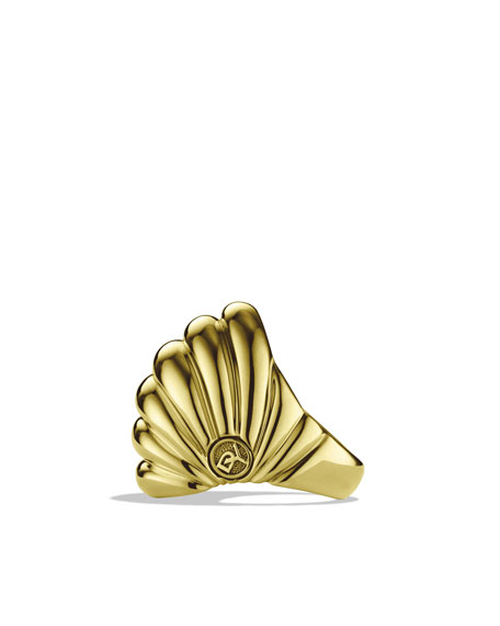 Sculpted Cable Dome Ring in Gold