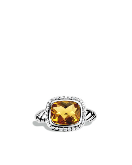 Noblesse Ring with Citrine and Diamonds