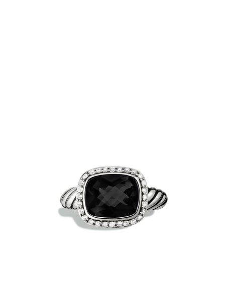 Noblesse Ring with Black Onyx and Diamonds