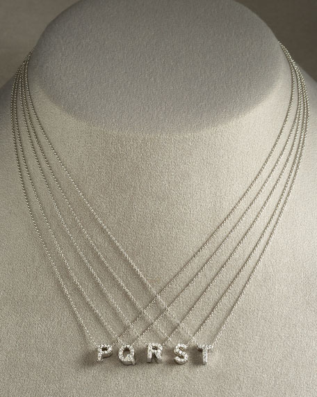 Roberto Coin Diamond Love Letter Necklace n8nw2