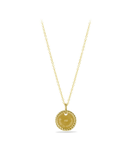 """C"" Pendant with Diamonds in Gold on Chain"
