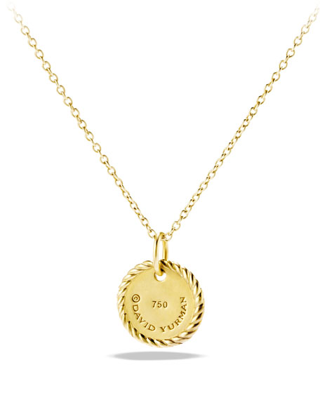 """W"" Pendant with Diamonds in Gold on Chain"