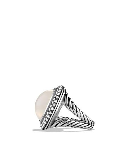 Cerise Ring with Moon Quartz and Diamonds