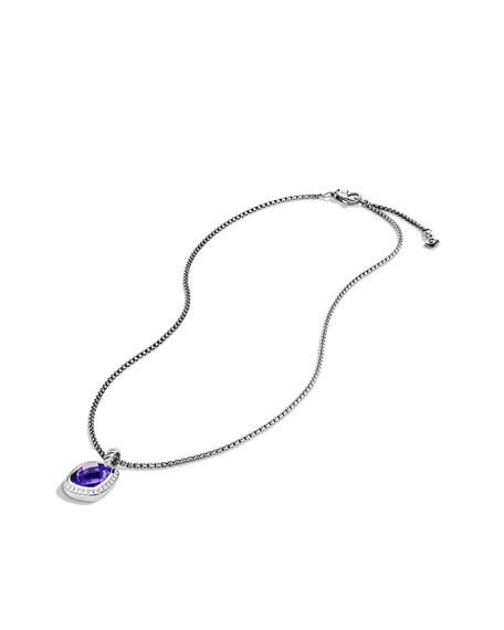 Noblesse Pendant with Amethyst and Diamonds on Chain