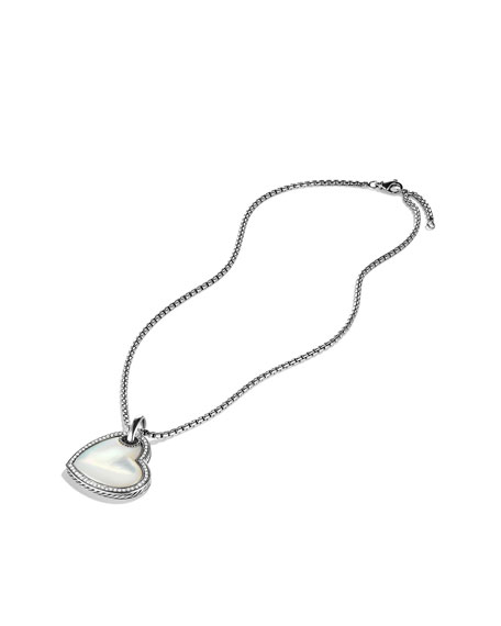 Color Classics Heart Tag with Mother-of-Pearl and Diamonds on Chain