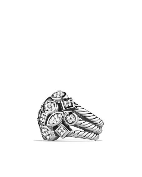 Confetti Four-Row Ring with Diamonds