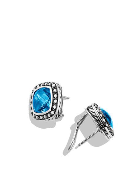 Albion Earrings with Hampton Blue Topaz and Diamonds