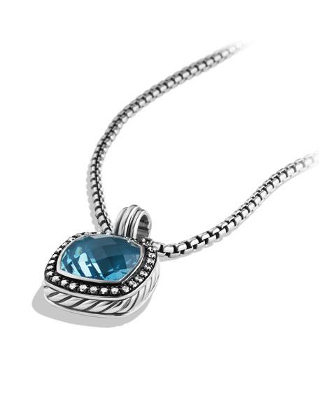 Albion Pendant with Hampton Blue Topaz and Diamonds