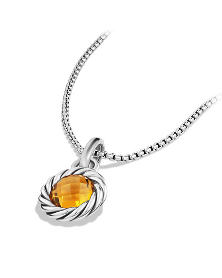 Citrine Cable Charm