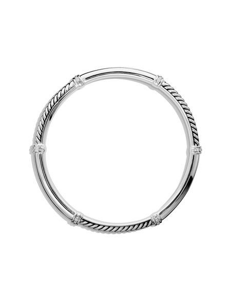 Metro Bangle with Diamonds