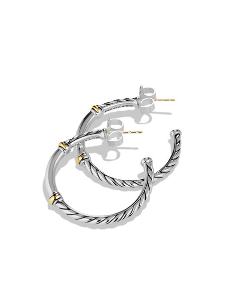 Metro Small Hoop Earrings with Gold