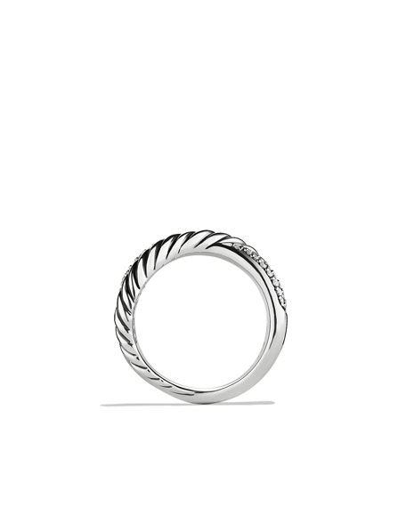 X Ring with Diamonds