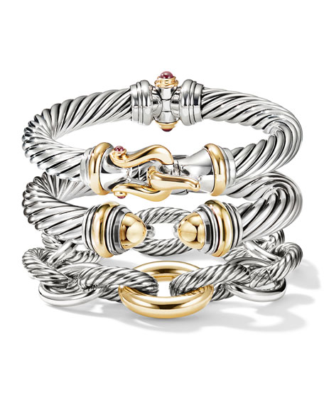 Image 4 of 4: David Yurman Oval Extra-Large Link Bracelet with Gold