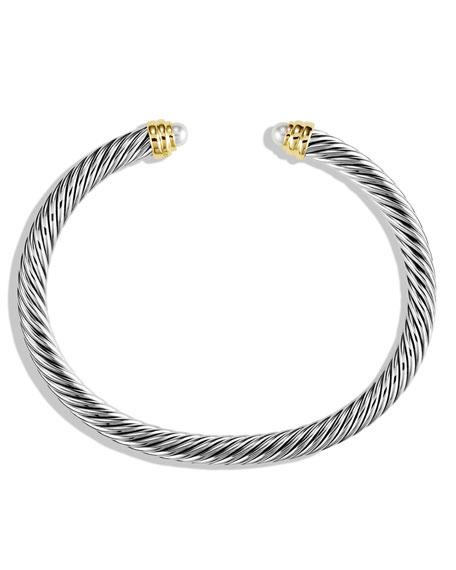 David Yurman 5mm Pearl Cable Classics Bracelet Small
