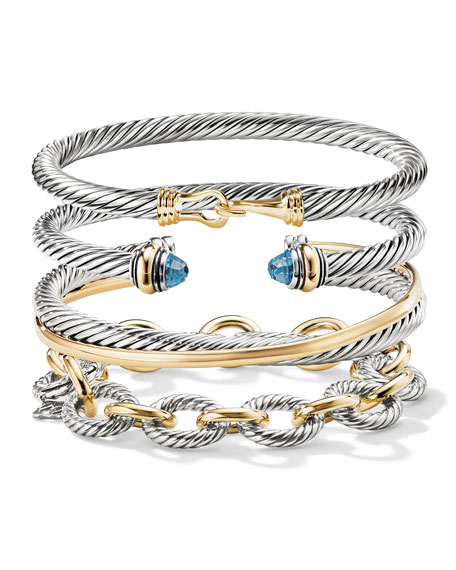Image 4 of 4: David Yurman Crossover Cuff with Gold