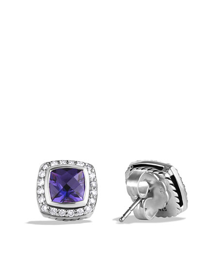 Petite Albion Earrings with Amethyst and Diamonds