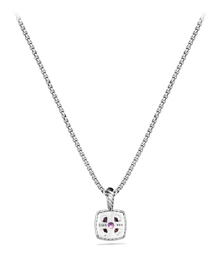 Petite Albion Pendant with Amethyst and Diamonds on Chain