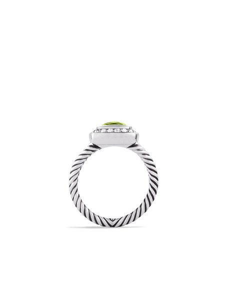 Petite Albion Ring with Peridot and Diamonds