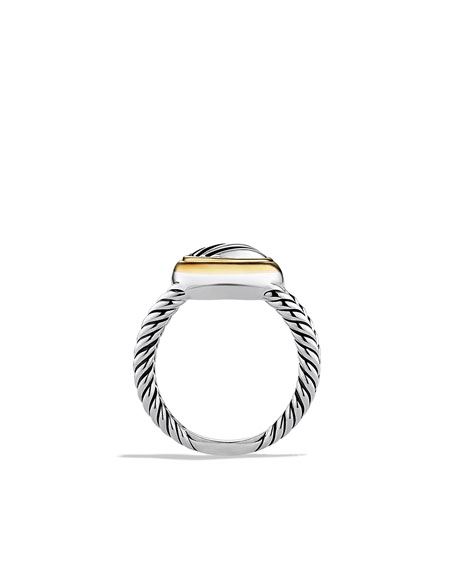 Cable Heart Ring with Gold