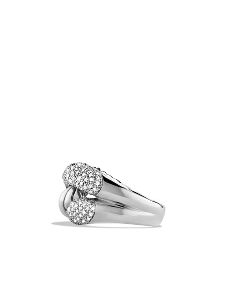 SILVER ICE RIO KNOT RING