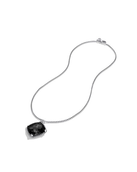 Cushion on Point Pendant with Black Onyx on Chain