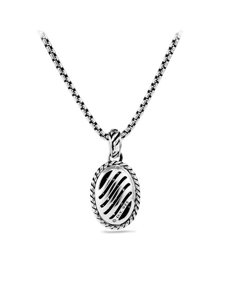 Midnight Mélange Oval Pendant with Diamonds